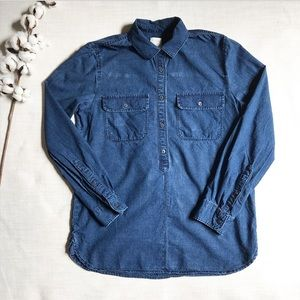 J Crew Boyfit Denim Shirt Jacket Button Down